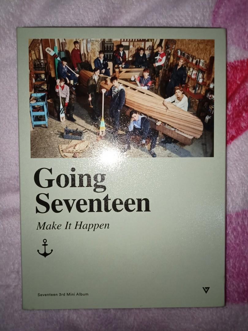 Seventeen Album Going Seventeen Make It Happen + POSTER AND FREE PHOTOCARD!