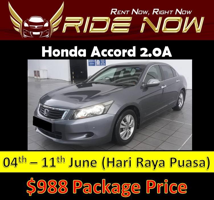 Honda Accord 2.0A Hari Raya 2019 4-11 Jun Car Rental