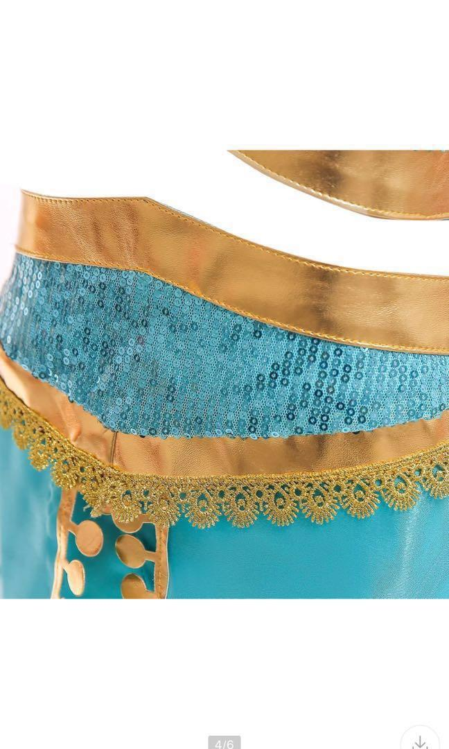Instock Aladdin Princess  Jasmine Dress 4-9yrs old Jasmine constume