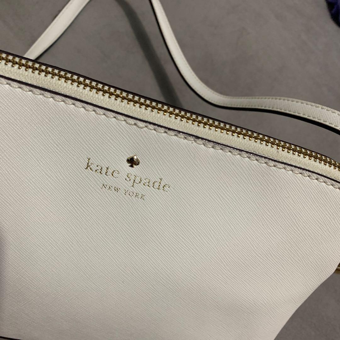 Kate Spade 白色斜揹袋