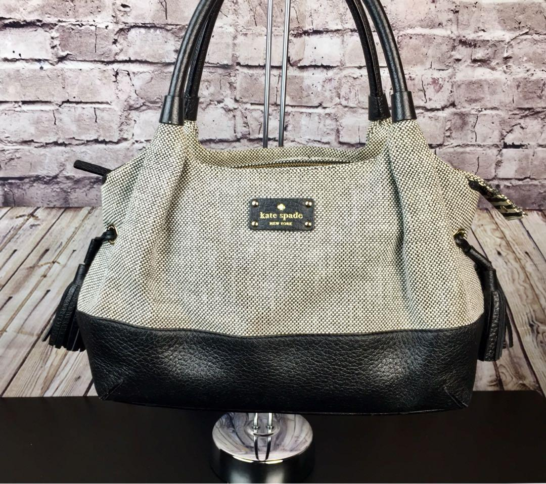 Kate Spade Southport Avenue Stevie Tweed with Leather Trim Satchel