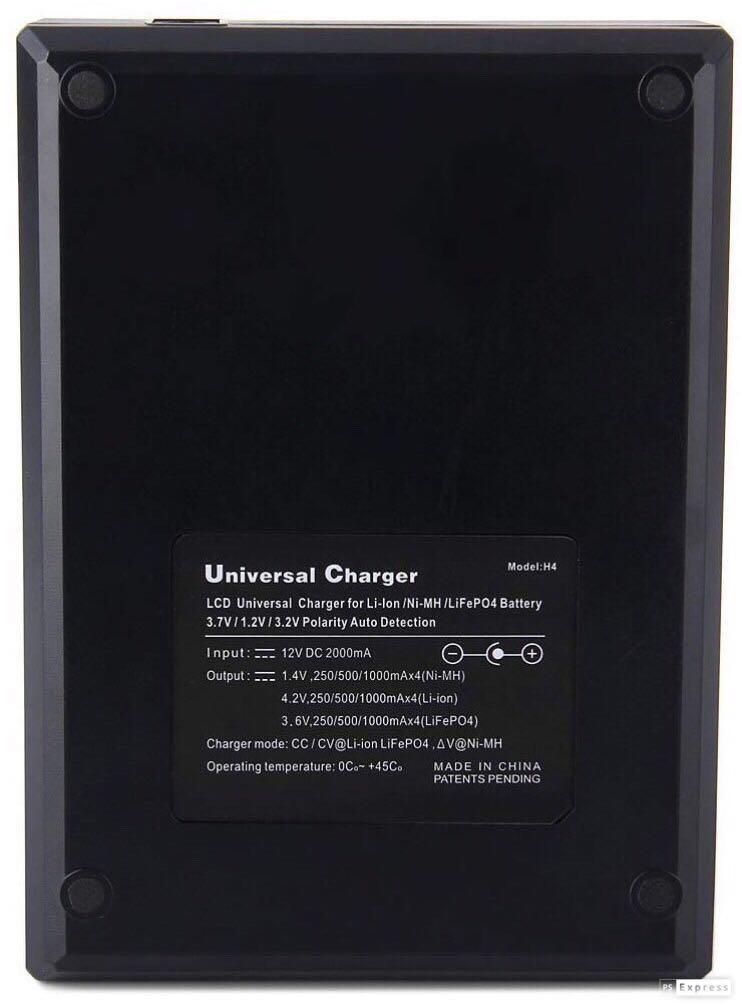 通用實用/數字顯示/快速充電器/適用於任何圓柱體可充式電池/LCD battery charger/Li-ion/NIMN/Life PO4/18650/2A/3A/14500/16340/26650/CR123