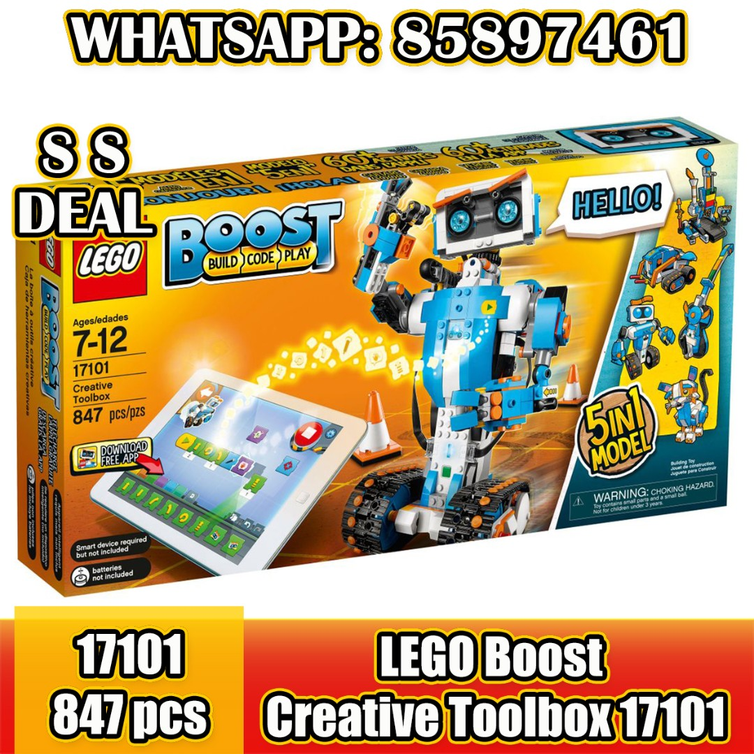 17101 LEGO BOOST Creative Tool Box 847 Pieces Age 7-12 Years New Release 2017!