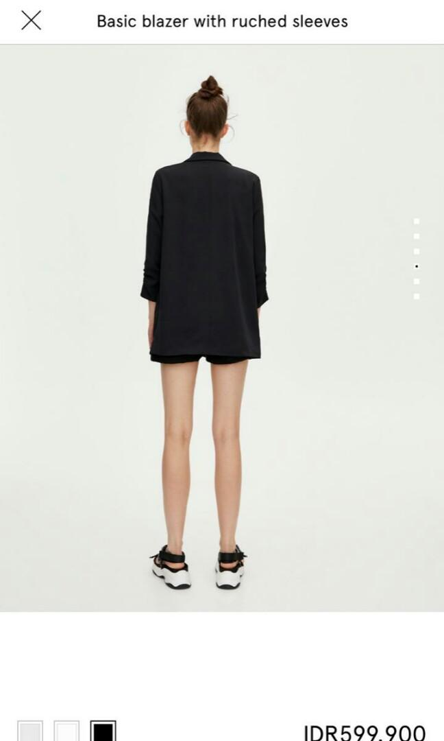 #mauthr Basic blazer with ruched sleeves pull&bear original