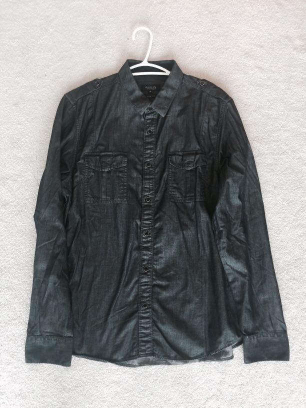 Men's dark grey dress shit by Guess (size m)