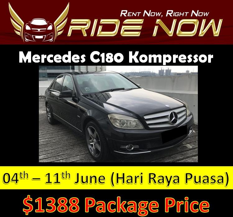 Mercedes C180 Kompressor 4-11 June Hari Raya Puasa Car Rental