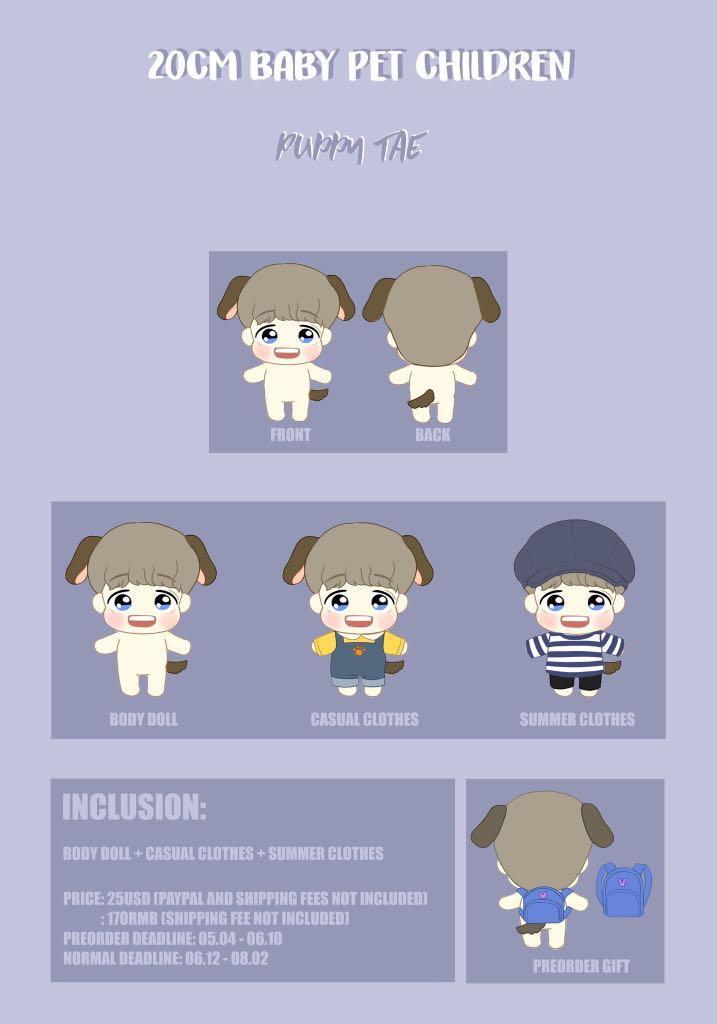 [MY GO🇲🇾] 20CM BABY PET DOLLS by @asantasgift (designed by @uruhiko_kpop)