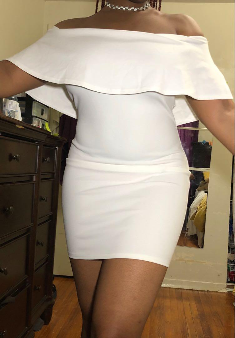 NWT Pretty Little Thing Off-Shoulder Bodycon Dress