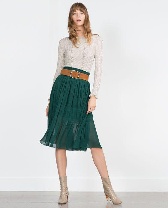 NWT Zara Fancy Skirt