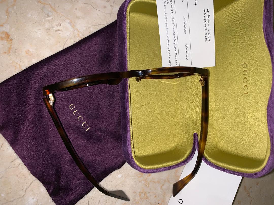 Original GUCCI Sunglasses Women's model GG0022SA 002 Avana/Brown