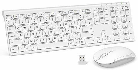 Jelly Comb Keyboard Mouse Ultra Thin Rechargeable Wireless QWERTY Plug /& Play