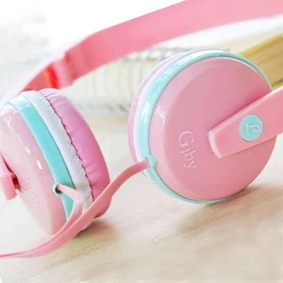 Pink Macaron Headphone by GJBY [MIB]