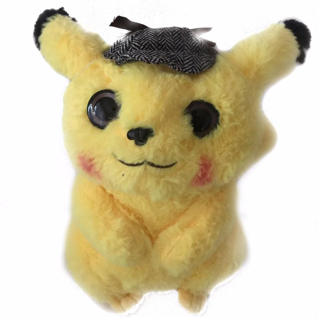 Pokemon Center Movie Detective Pikachu Soft Plush Toy