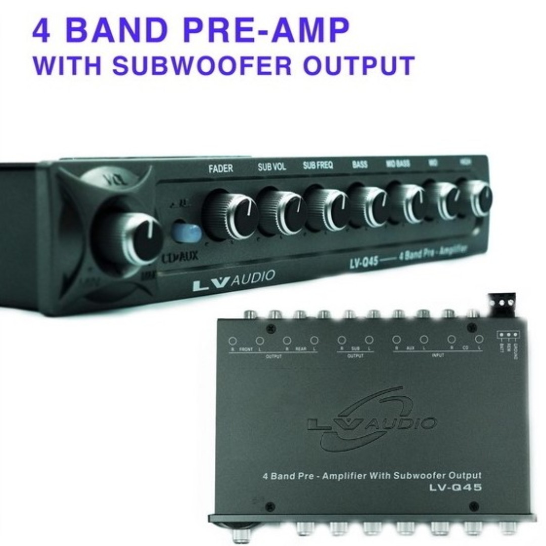Preorder 4 Band Pre Amplifier Lv Q45 Car Audio Equalizer Pre Amp