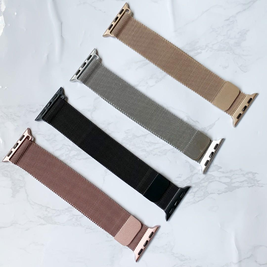 [READY STOCK] Casual nylon Woven Apple Watch band available for all series 1-4, iwatvh sizes 38mm/40mm/42mm/44mm