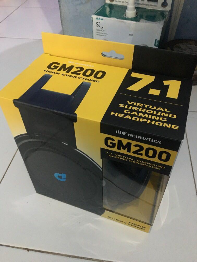(Salah beli) Headphone dbE GM200 USB 7.1 Virtual Surround Gaming Headphone