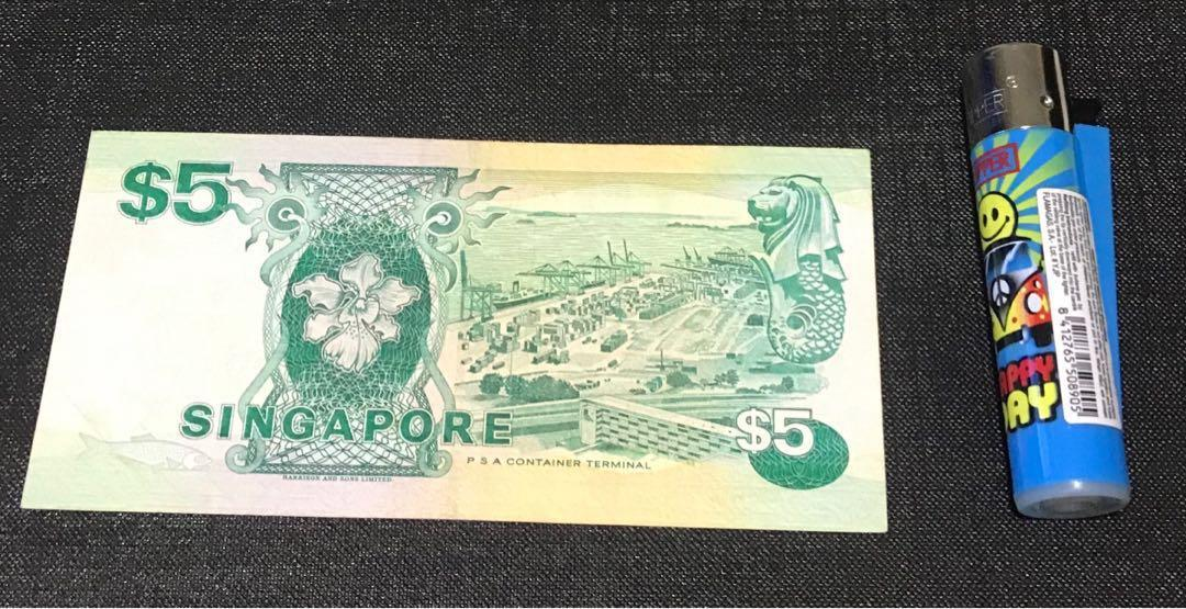 Singapore Old Notes SGD $5 - Collectable