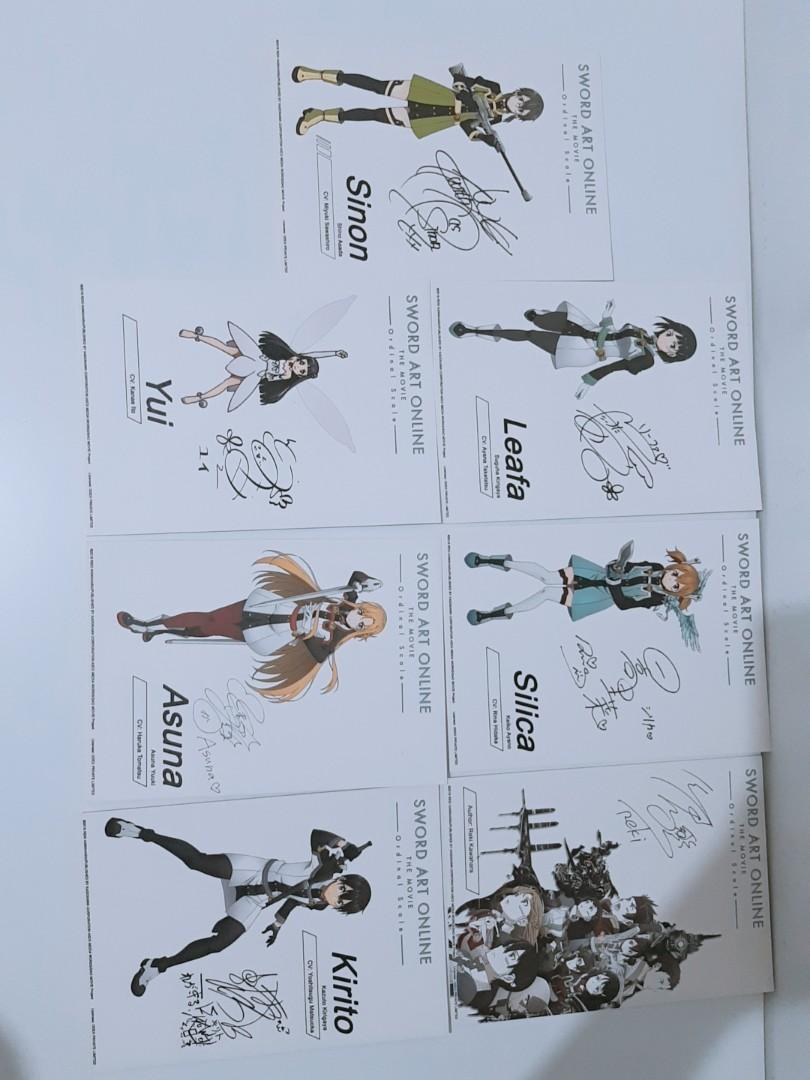 Sword Art Online - Japanese Voice Actor Sign Card