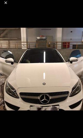 Car window film (Mercedes-Benz CLA180)