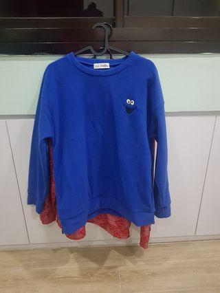 Cookie monster blue sweater pullover