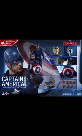 mms360 limited edition captain America hot toys hottoys