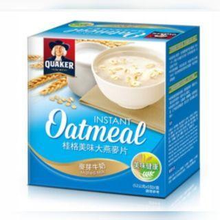 🚚 桂格 美味大燕麥片-麥芽牛奶 (52gx5包)/盒