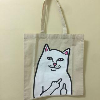 Ripndip 中指貓 帆布手提袋
