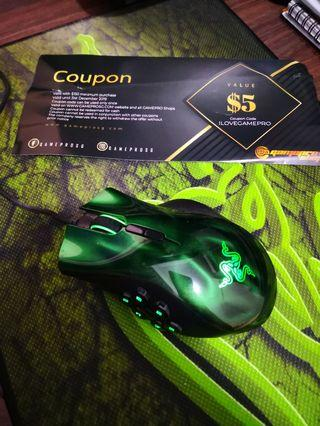 Razer Naga Gaming mouse with $5 gaming coupon