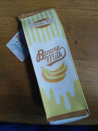 Daiso Banana Milk Pencil Case
