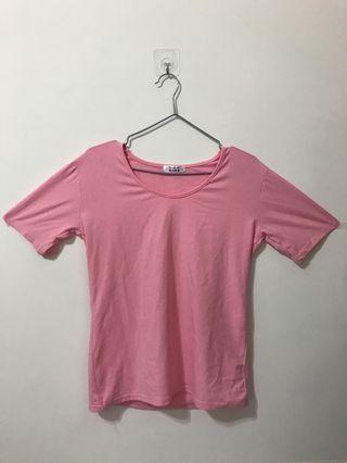 🚚 粉色中袖T恤