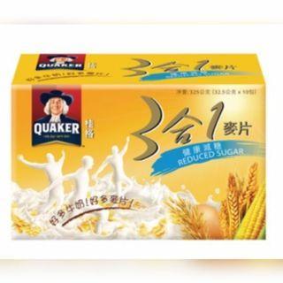 🚚 桂格/3合1麥片(健康減糖)325g/盒