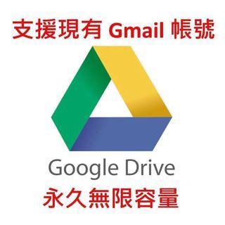 💥 支援現有 Gmail 帳號 - Google Drive 永久無限容量空間 💥