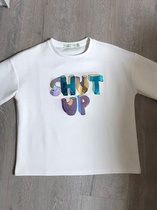 "🚚 Holographic ""Shut Up"" Shirt"
