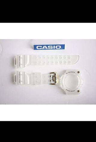 100% Authentic new Casio G-Shock 25th Anniversary  Glorious Gold GW-225E-7JR Frogman Band and Bezel with studs Set very very rare