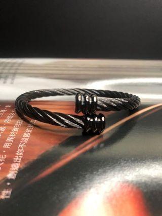 🚚 鋼索手環 神秘黑 免運費