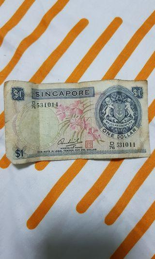 Singapore orchid series $1 notes