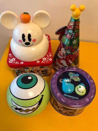 東京迪士尼食物罐四個(不散賣)