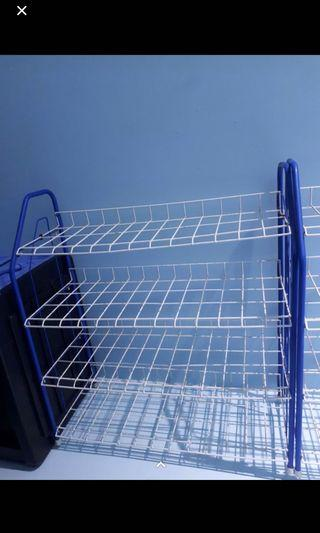 Blue and White Lightweight Shoe Rack