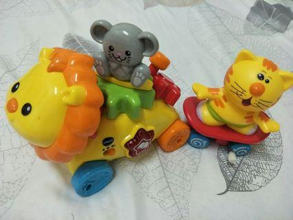 Vtech Musical Lion and spin me tiger.