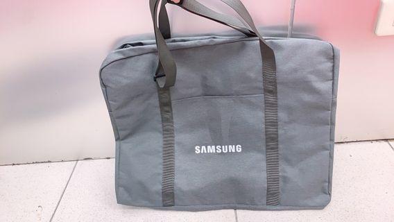 🚚 全新 三星 Samsung 旅行袋 質感灰