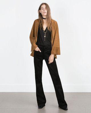 Zara Suede Jacket/Cardigan