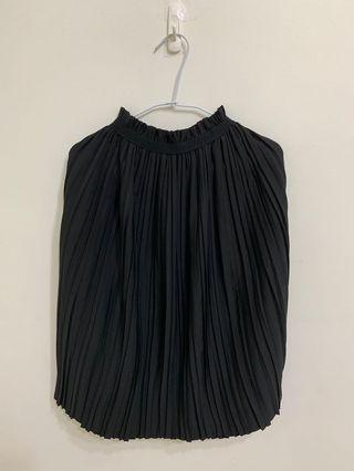 🚚 百褶裙鬆緊黑色