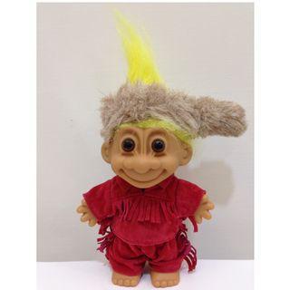 幸運小子 (印地安流蘇哥)醜娃、巨魔娃娃、醜妞、Troll Doll、魔髪精靈、魔法精靈、INDIAN、原住民、流蘇