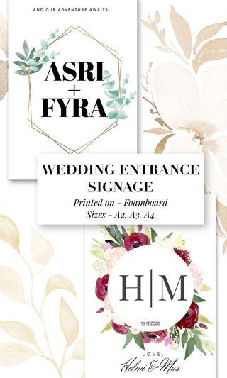 Wedding Entrance Signages