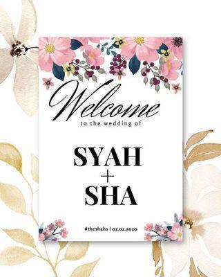 Wedding Entrance Signage - Floral Series