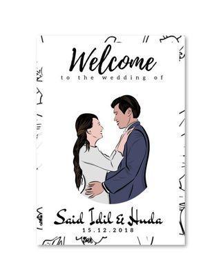 Wedding Entrance Signage - Illustration Series