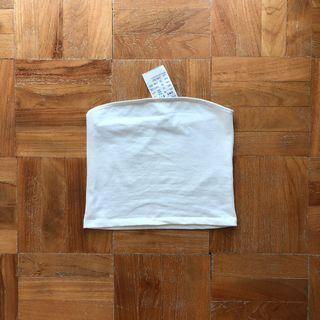 Brandy Melville Jenny Tube Top in White