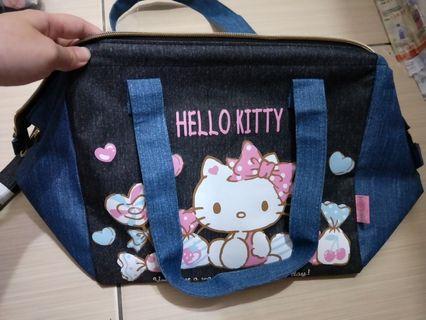 🚚 Hello kitty凱蒂猫保冷手提袋 附斜背帶