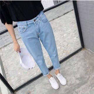 BNIP loose straight light blue denim jeans