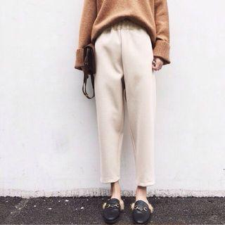 BNIP loose casual cream wool pants
